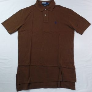 Ralph Lauren Classic Fit Mesh Polo Brown S